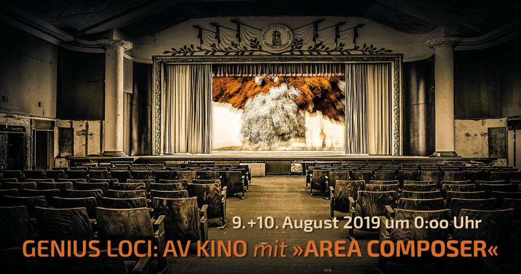 Announcement of the performance of Area Composings at Genius Loci Festival Weimar 2019